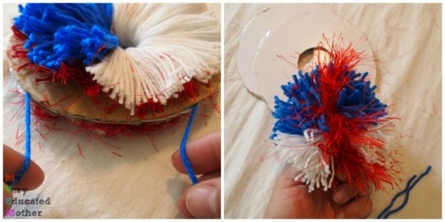 It's easy to make your own pom-poms!