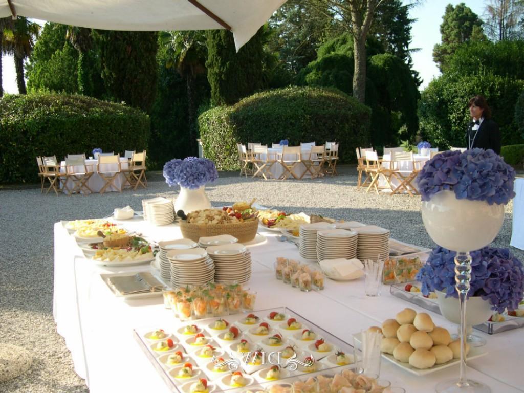 Friuli wedding buffet at a