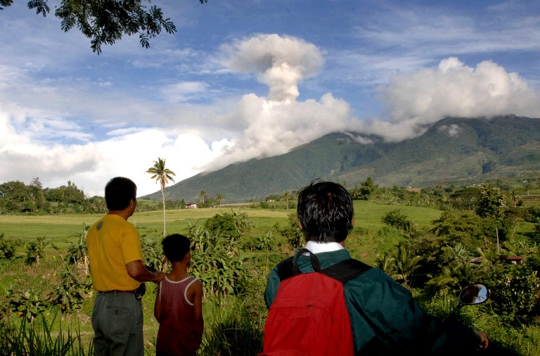 Image of Mt. Kanlaon Spit Out Volcanic Ash