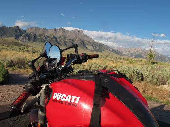 Ducati at Fallini Campground Mackay Reservoir Idaho