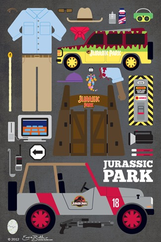 Movie Parts Series Jurassic Park by Emma Butler