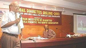Dr.Rajasekharan Nair(Neurologist), Dr.Ekbal (former Vice Chancellor) at first online CME organised by Jothydev(USA) and Sameer Badarudeen(India)
