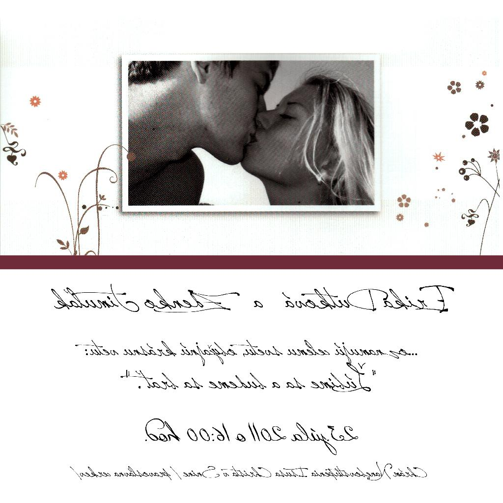 2011, wedding card, zdenotim