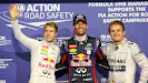Sebastian Vettel, Mark Webber and Nico Rosberg