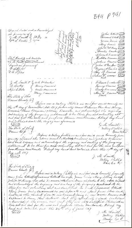 Nicholas Dawson,Deerfield Twp,Warren Co,OH, Mary Irwin,James Irwin heirs 18674