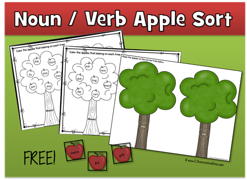 Noun Verb Apple Sort Facebook
