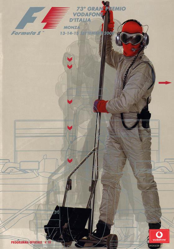 официальный постер Vodafone для Гран-при Италии 2002