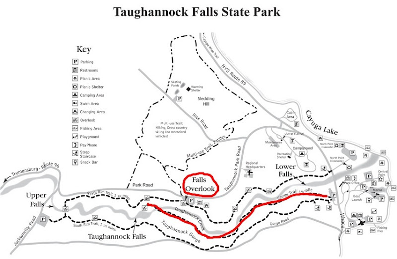 Taughannock Falls State Park Map