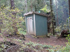 There are two outhouses for campers.