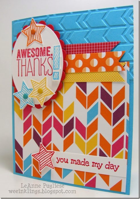 LeAnne Pugliese WeeInklings Paper Players 242 Yippee Skippee Epic Alphabet Thanks Stampin Up
