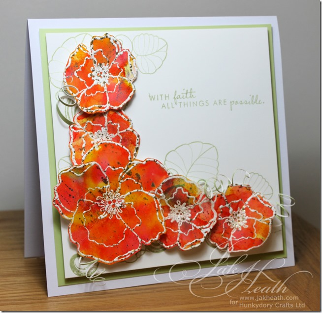 Adorable scorable inked flowers1JH