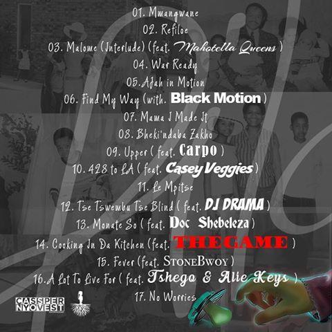 Cassper Nyovest Rifiloe tracklist