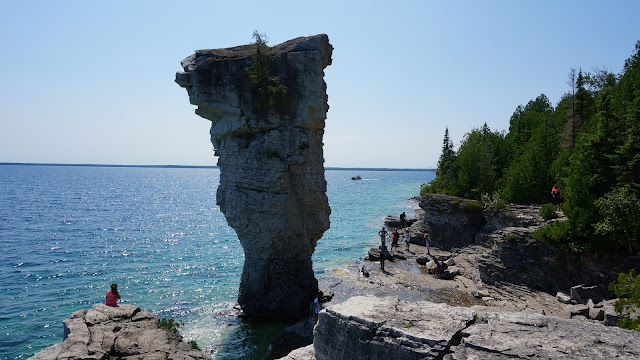 Flowerpot island on the Bruce Peninsula in Tobermory, Ontario, Canada