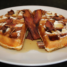 Bacon Stuffed Waffles with Jack Daniels Syrup