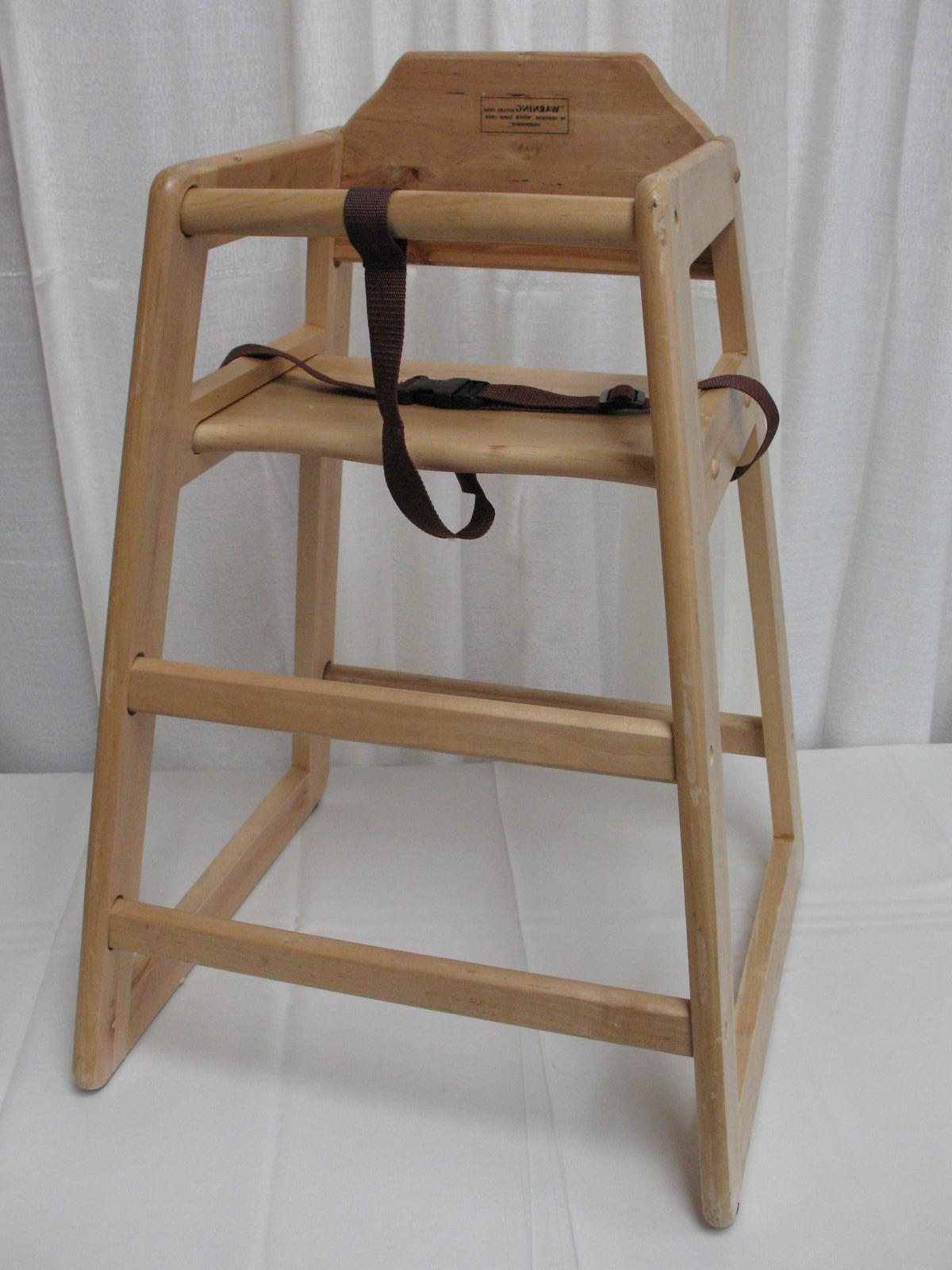 High Chair wood.  12.00