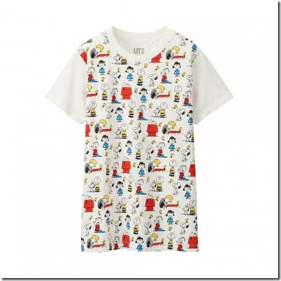 UNIQLO UT X Peanuts Movie Women Short Sleeve Graphic T-Shirt 03