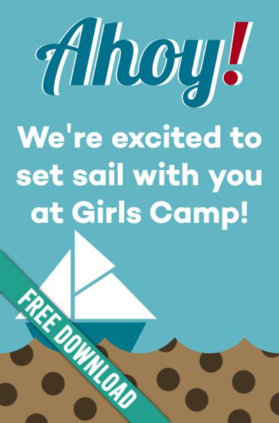 Girls Camp Pillow Treat Handout: Chips Ahoy!