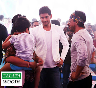 Shah Rukh Khan Visits Mahesh Babu at Brahmotsavam Sets Images Pics Photos Stills