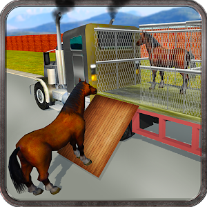 Wild Horse Zoo Transport Truck Icon