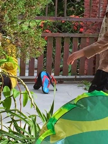 permainan, anak-anak, tradisi, selipar,baling,bola
