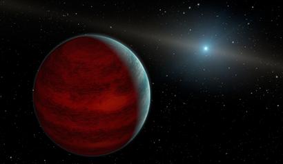 ilustração de um planeta rejuvenescido hipotético