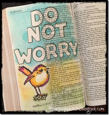 Bible Art Journaling birds do not worry