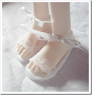 Ball Jointed Doll Wearing Sandals
