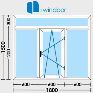 PVC window door design-iwindor