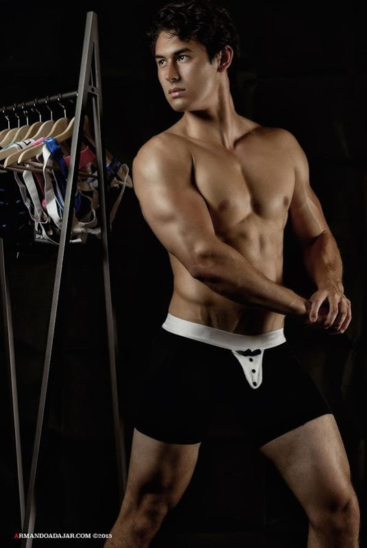 Sexy Guy in Black Trunks