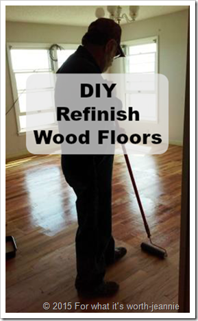 DIY refinish wood floors