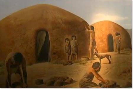 Reproducción del poblado neolítico - Illeta dels Banyets