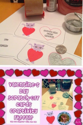 FREE Valentines Day Cards Printable Craftivity Scratch-offs