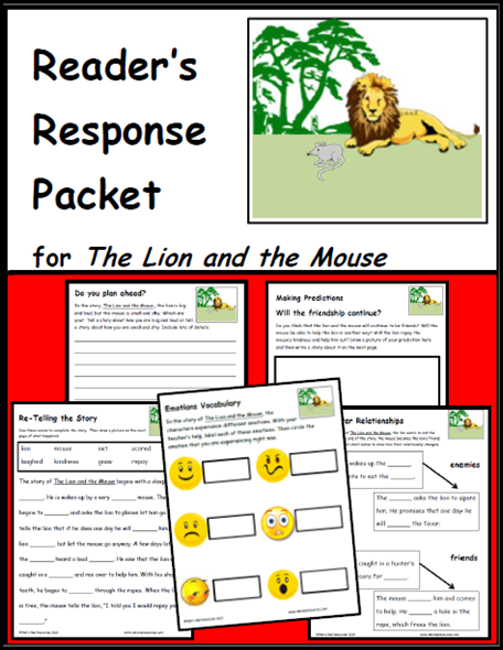 the lion and the mouse reader's response packet
