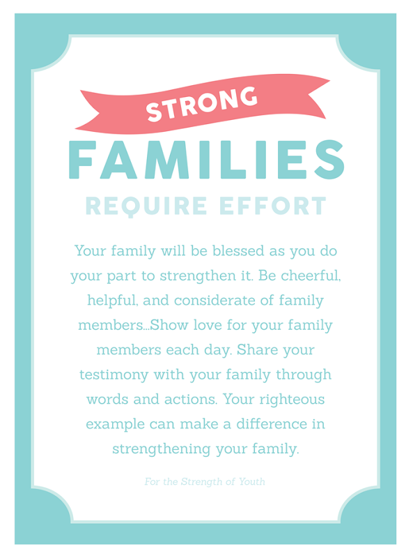 Why is the family important Young Women YW Handout Printable