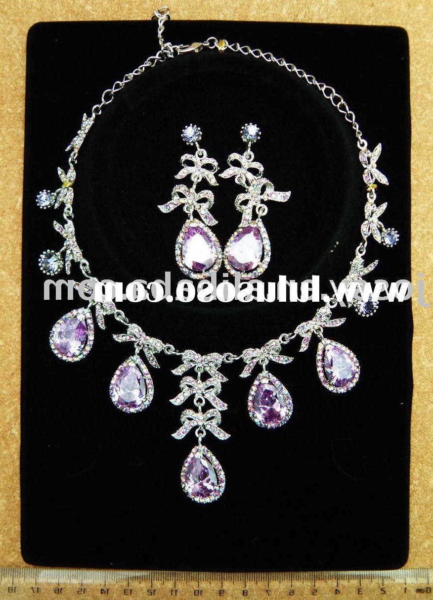 CZ wedding jewelry sets