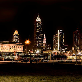 Downtown Cleveland Ohio by Patricia Konyha - City,  Street & Park  Skylines
