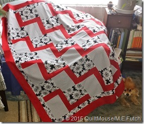 Stepping Up Quilt Pattern - Red-Black-White
