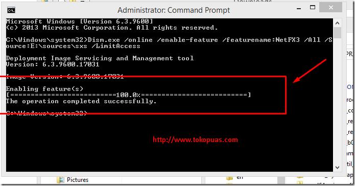 cara mengaktifkan framework windows 8.1