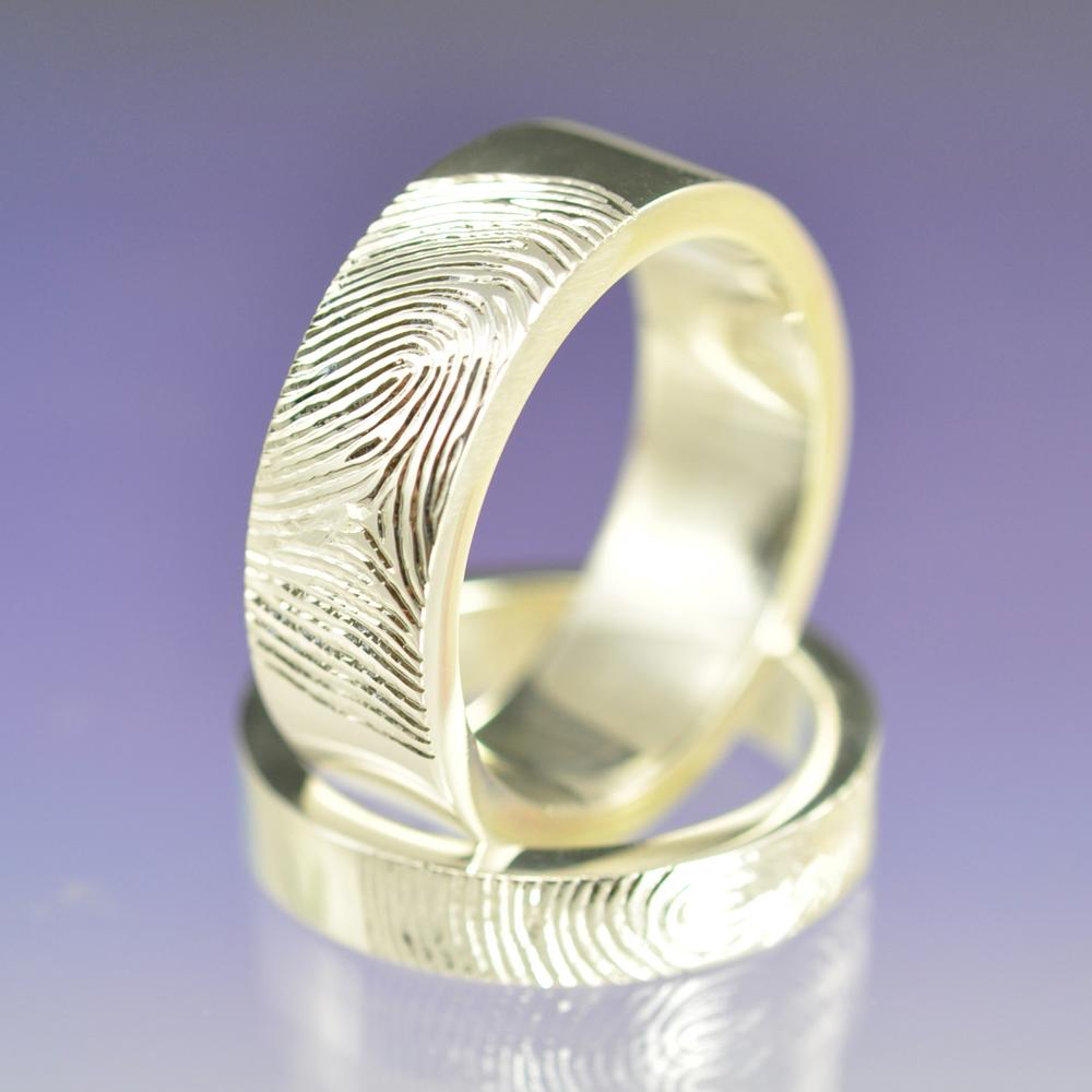 Fingerprint Ring Sterling