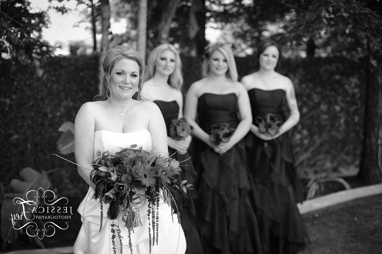 Black, Red & White Wedding