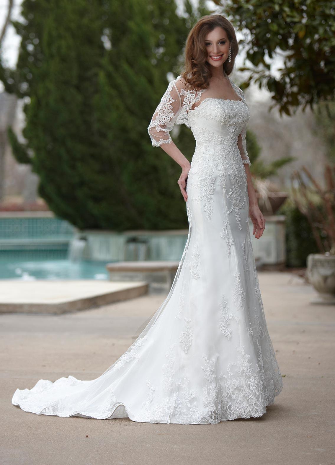 Waist Bridal Dresses With