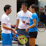 Ana Ivanovic chats with her team