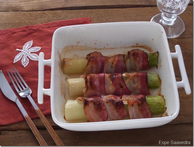 puerros bacon espe saavedra