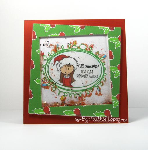 Garabattas - Navidad - Papeles - Tarjeeta de Navidad - Ruthie Lopez