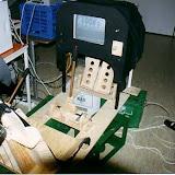 Ausstellung 2002 Weidigschule: Selbstgebauter Flugsimulator