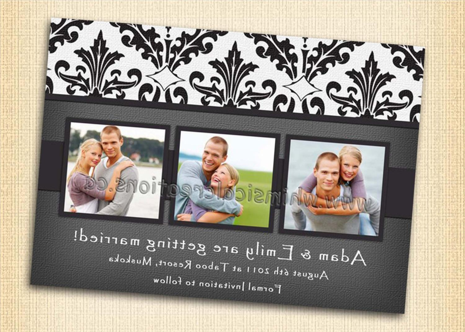 Wedding Announcement. Engagement Invitation  Digital file