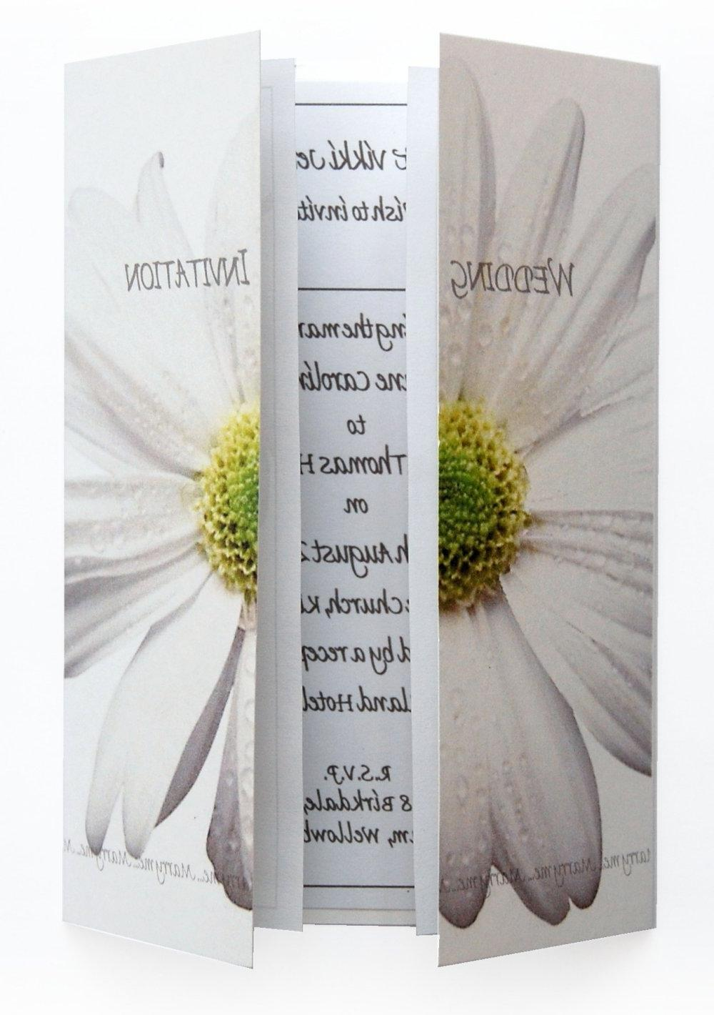 Daisy- White Gatefold Day Invitations