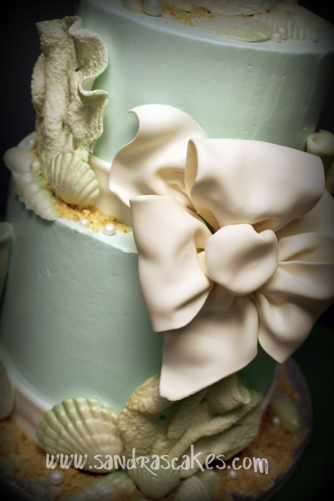 Beautiful Beach Wedding Cake