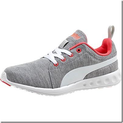 Puma Carson Runner Heather Women Running Shoes - gray-white-bright plasma USD 65.00