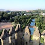 Alkazar w Kordobie o świcie, widok na ogrody